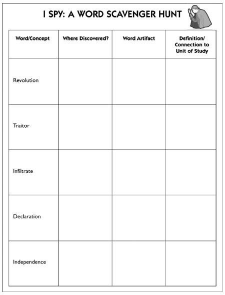 I Spy A Word Scavenger Hunt Book Nook Thinkmap Visual