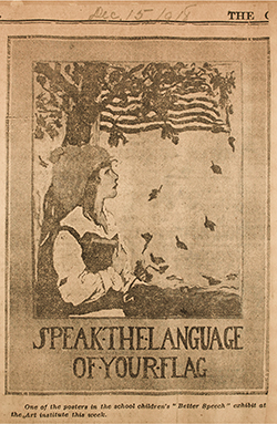 Speak the language of your flag poster
